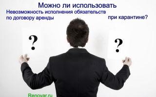 Невозможность исполнения обязательств по договору аренды