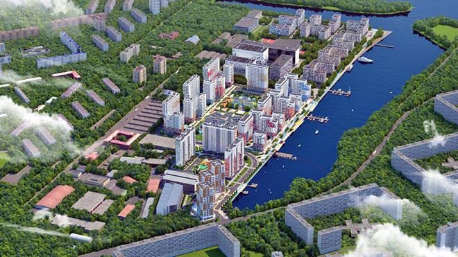 Как будет выглядеть Нагатинский затон в Москве