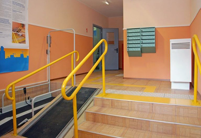 Удобный подъезд для инвалидов