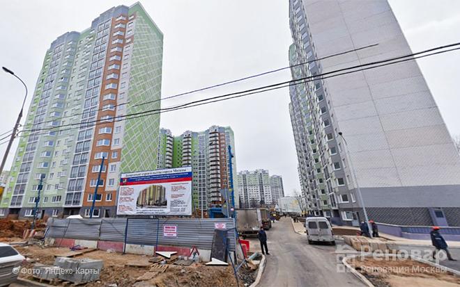 Новые дома по реновации на улице Дмитрия Ульянова 27 и 27 к. 1