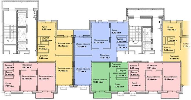 Общий план квартир, Проспект Вернадского, 58