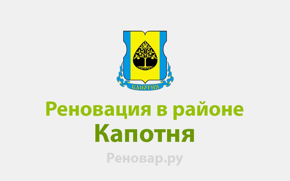 Реновация района Капотня
