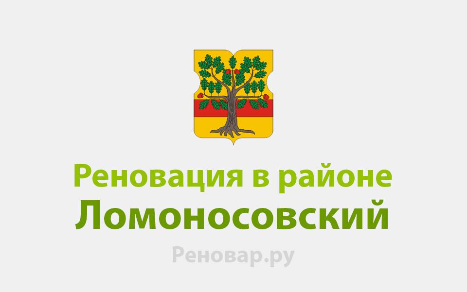 Реновация района Ломоносовский