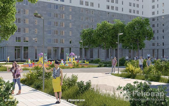 Проект квартала реновации в районе  Ивановское