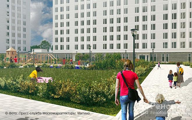 Проект квартала реновации в районе  Митино