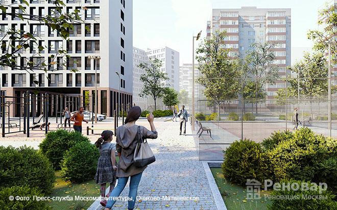 Проект квартала реновации в районе  Очаково-Матвеевское