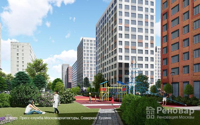 Проект квартала реновации в районе  Северное Тушино