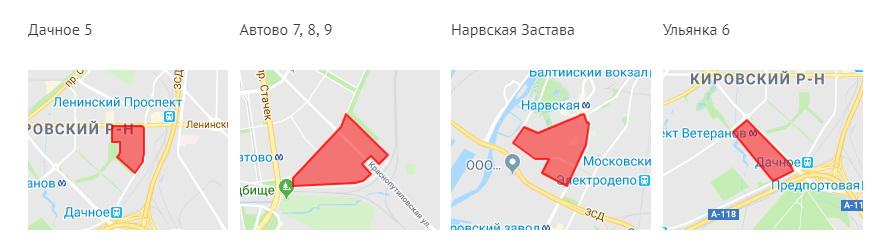 Карта реновации Кировского района СПб