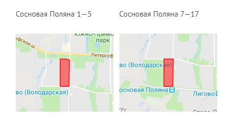 Карта реновации Красносельского района Петербурга