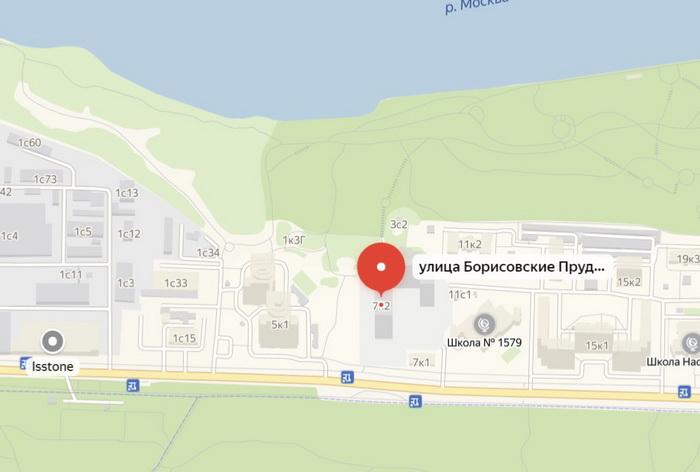 Карта адреса дома по реновации Борисовские пруды, 7