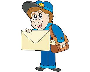 Почтальон с письмом