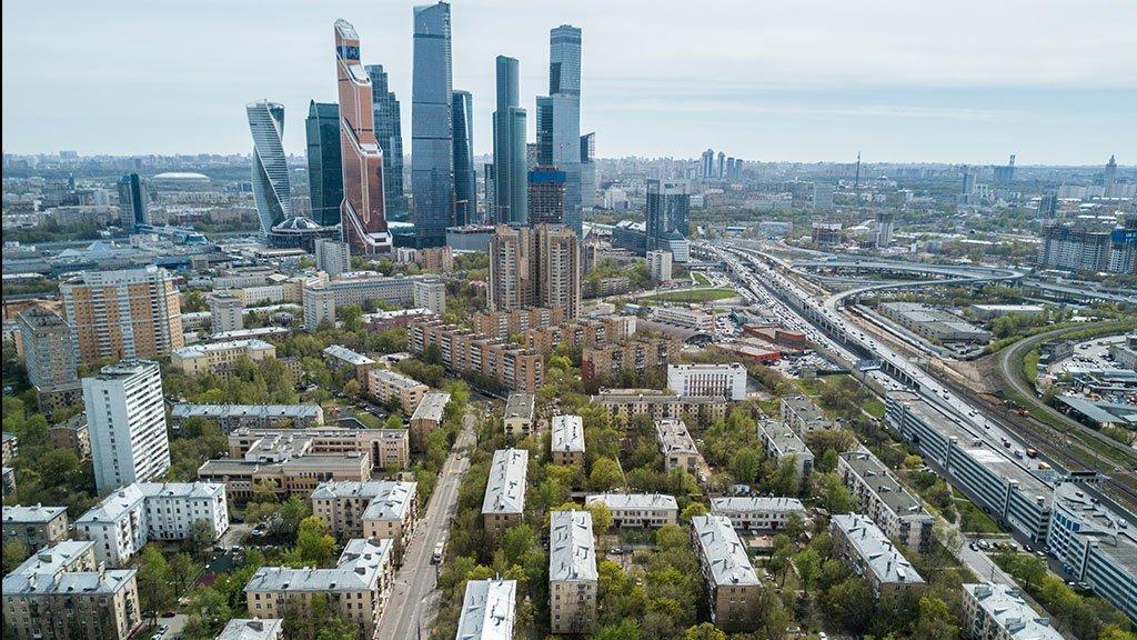 панорама на Москва-Сити