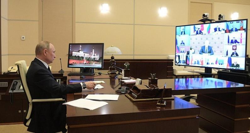 Путин видеоконференция, кредитные каникулы