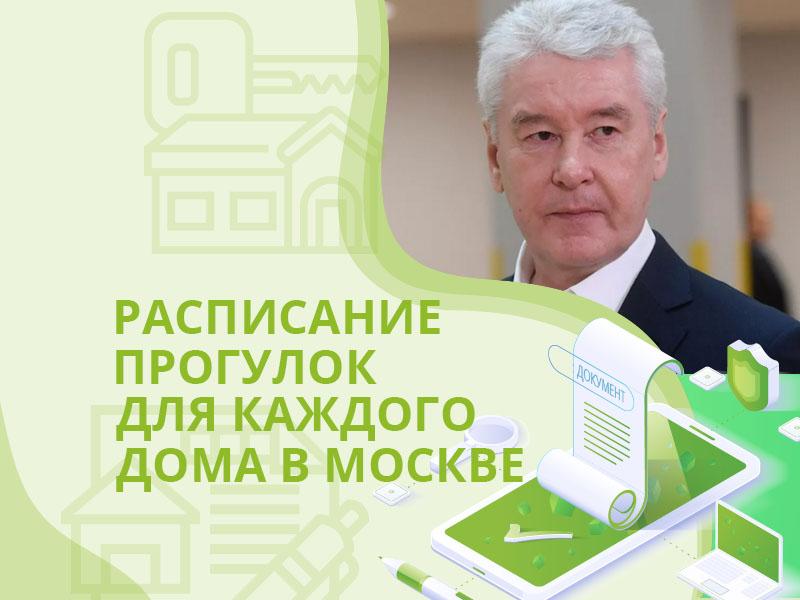 Расписание прогулок для каждого дома в Москве, Собянин