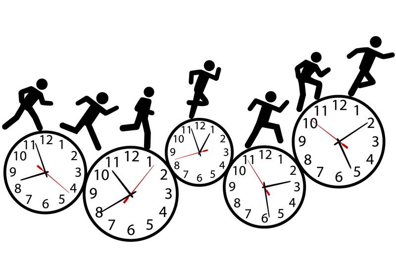 Спорт часы человечки