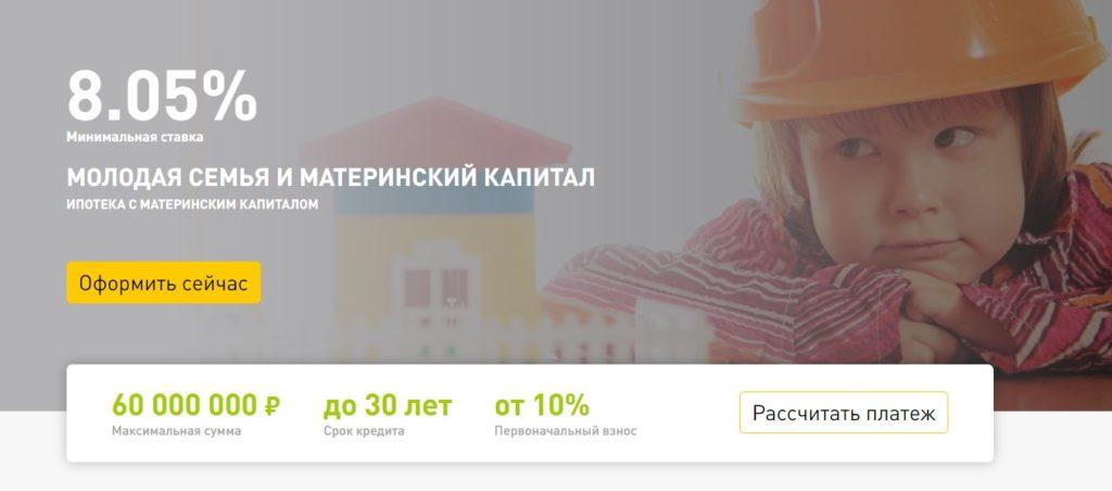 Молодая семья и материнский капитал - 8,05%